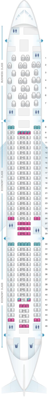Seat map aer lingus airbus a330 300 seatmaestro