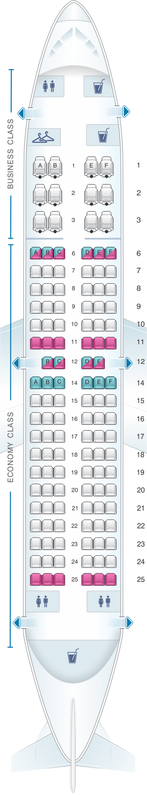 Seat map for Aeromexico Boeing B737 700