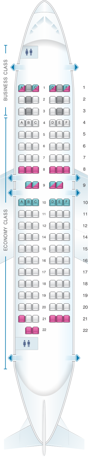Seat Map Airbaltic Boeing B737 500 Seatmaestro