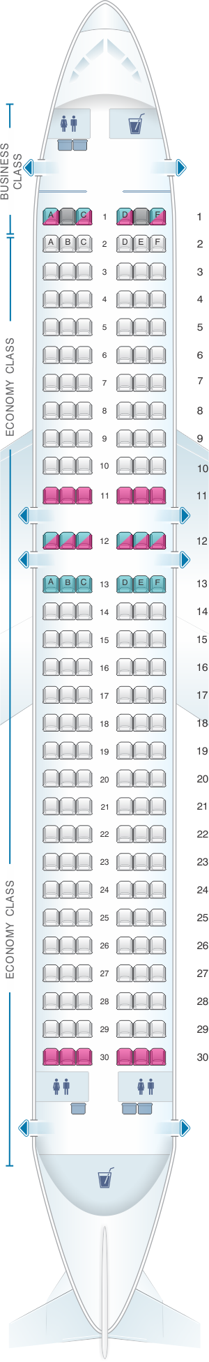 seat map airberlin airbus a320 200 seatmaestro. Black Bedroom Furniture Sets. Home Design Ideas