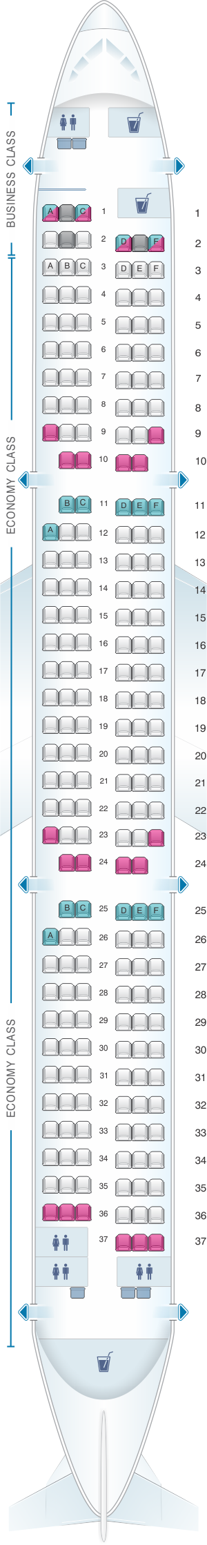 seat map airberlin airbus a321 200 seatmaestro. Black Bedroom Furniture Sets. Home Design Ideas