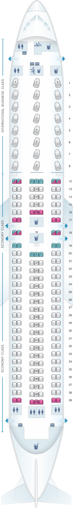 Air Canada Rouge 763 Seat Map Seat Map Air Canada Boeing B767 300ER (763) | SeatMaestro