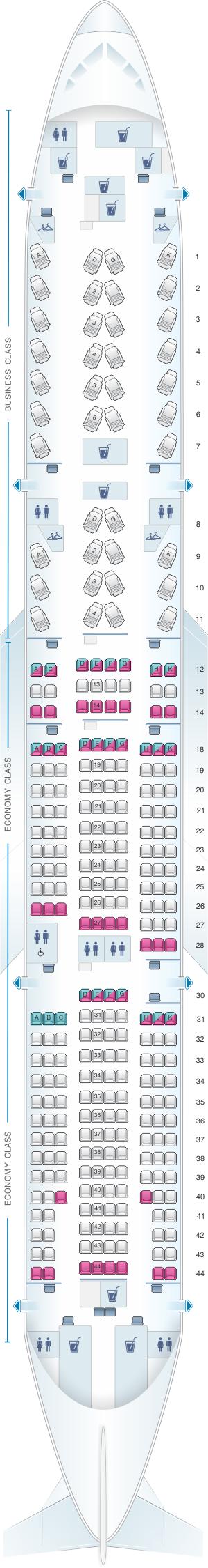 Air Canada Ac 15 Seat Map Air Canada Seat Map 777