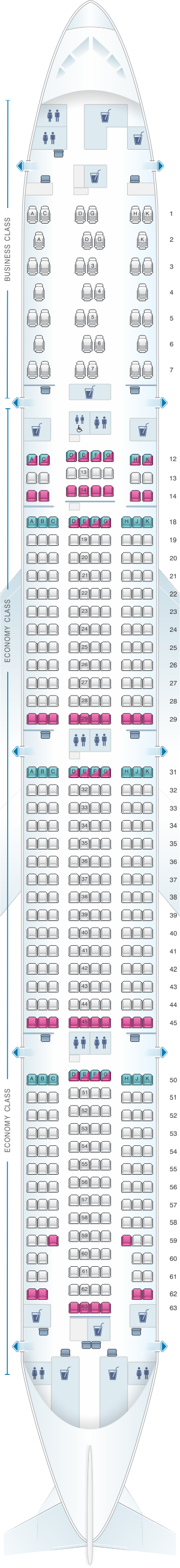Seat map air canada boeing b777 300er 77w north america layout 2