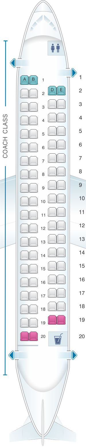 Seat map for Alaska Airlines - Horizon Air Bombardier Q400