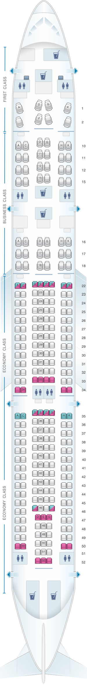 cathay pacific a330 300 seat map Seat Map Cathay Dragon Airbus A330 300 A33r Seatmaestro cathay pacific a330 300 seat map