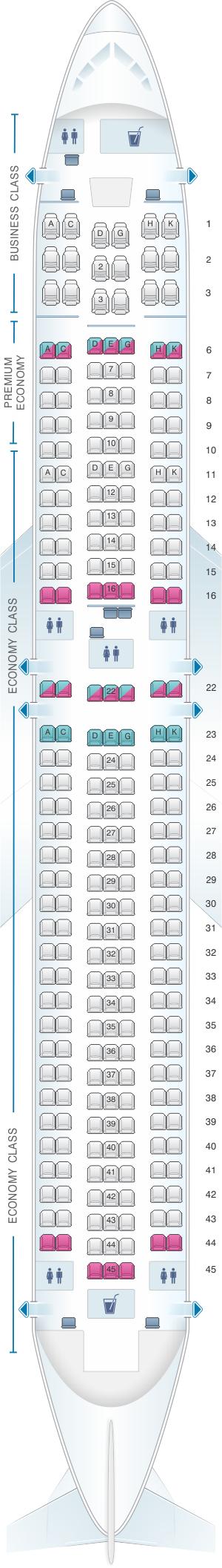Seat Map Condor Boeing B767 300er Version1 Seatmaestro