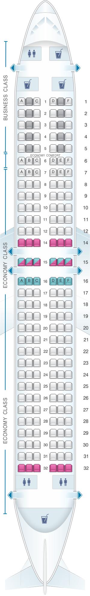 Seat Map Klm Boeing B737 800 Seatmaestro Com
