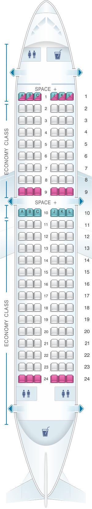 Seat Map LATAM Airlines Airbus A319 | SeatMaestro.com