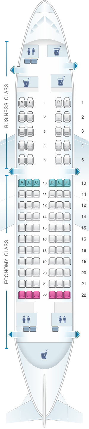 Seat map for Lufthansa Boeing B737 700