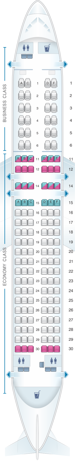 south african airways seat map