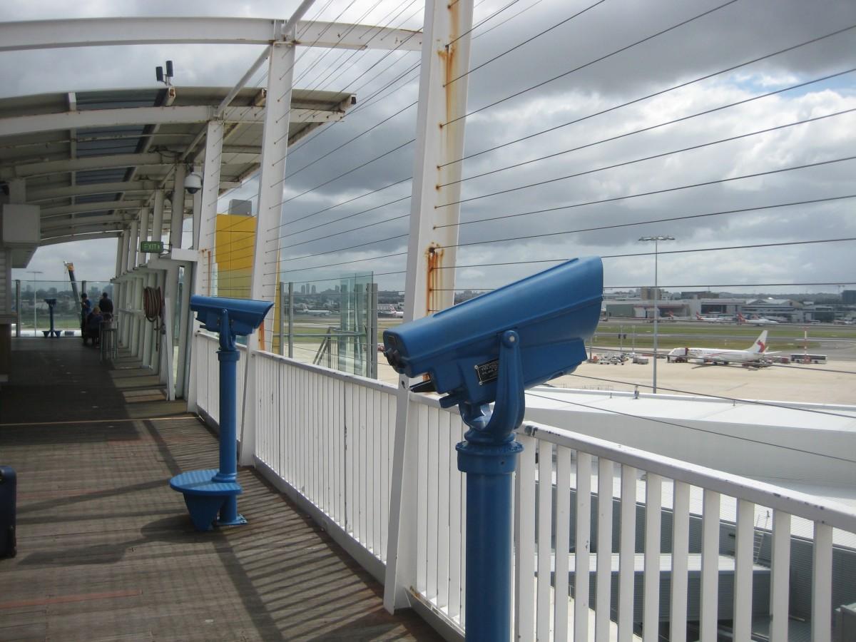 The Capetown International Airport observation deck