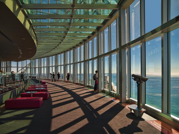 The observation deck at Auckland Airport