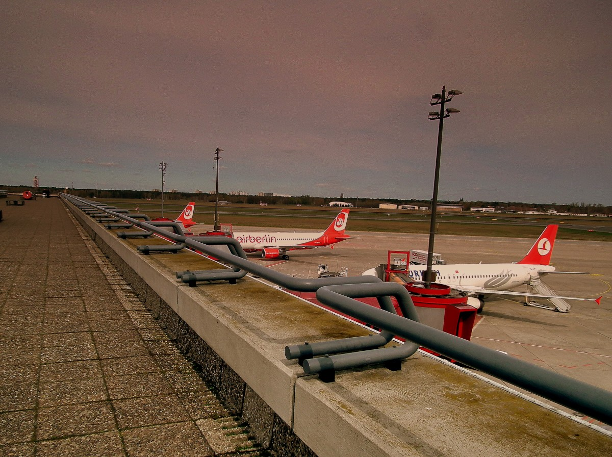 The observation deck at the Berlin Tegal Airport