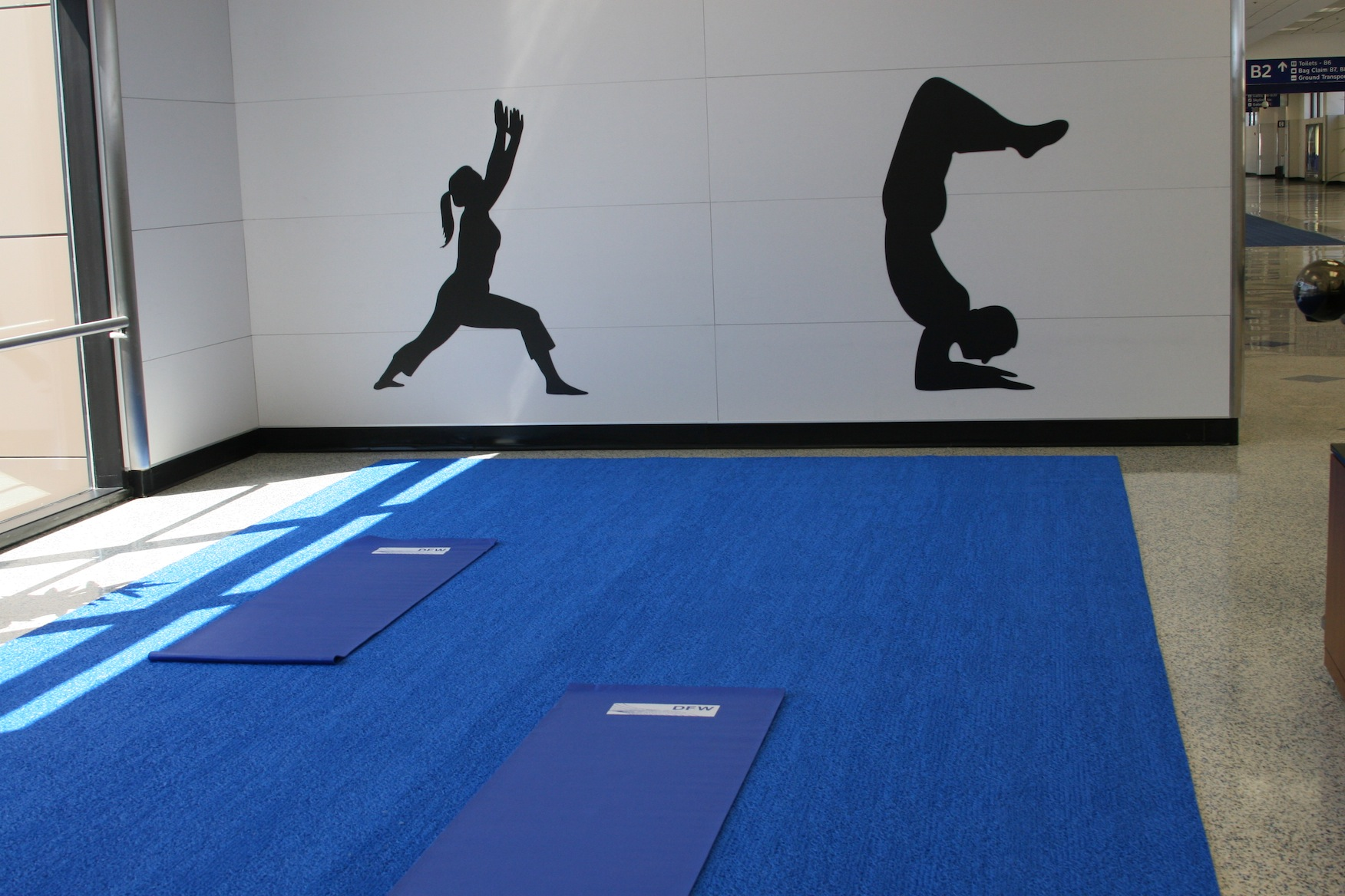 The meditation and yoga space at DFW