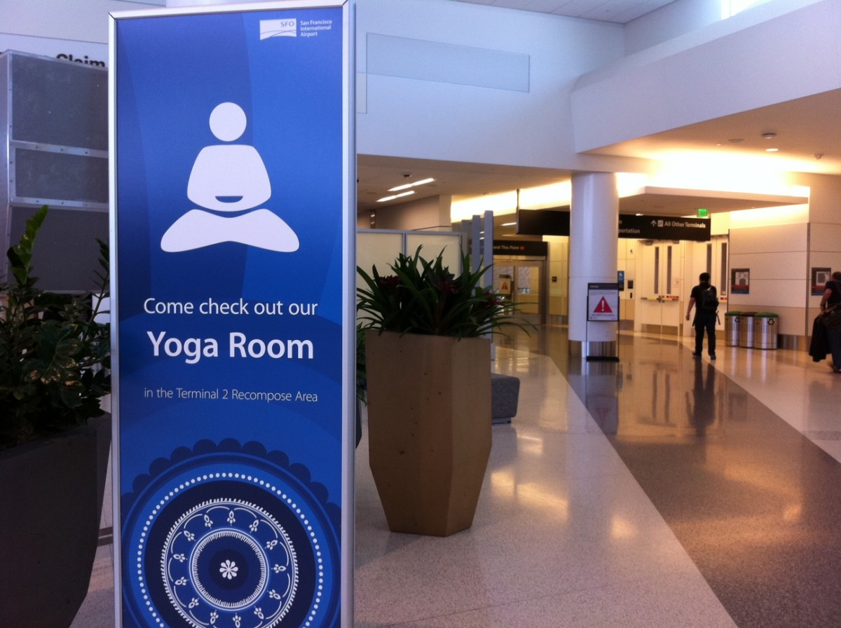 The meditation room at San Francisco International Airport