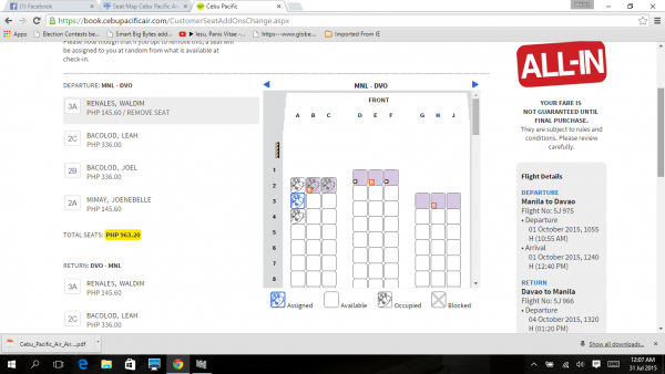 Cebu Pacific Air Seat Maps Seatmaestro