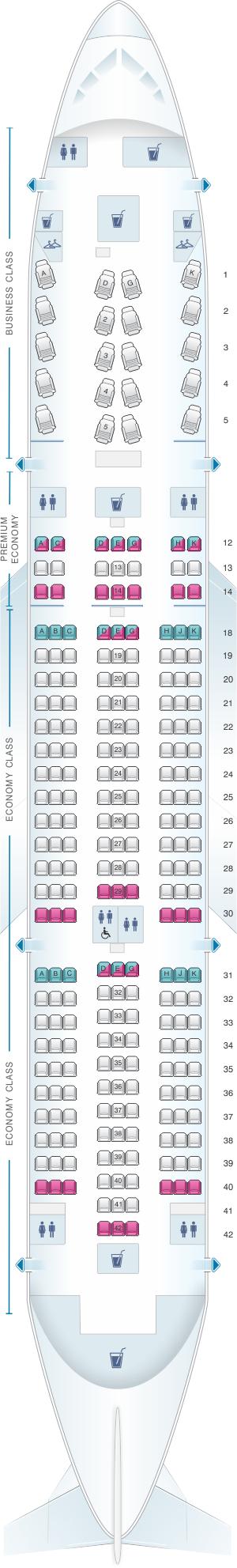 Seat Map Air Canada Boeing B787 8 788 International Seatmaestro