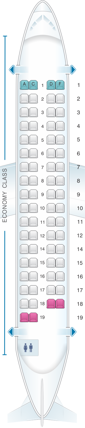 Seat map for Air India ATR 72 600