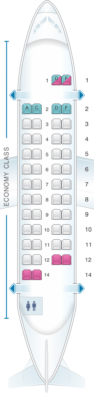 Seat map for HOP! ATR 42 500