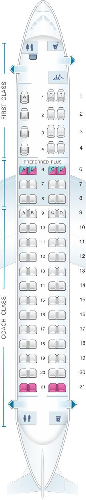 Seat Map Alaska Airlines - Horizon Air Embraer 175 | SeatMaestro