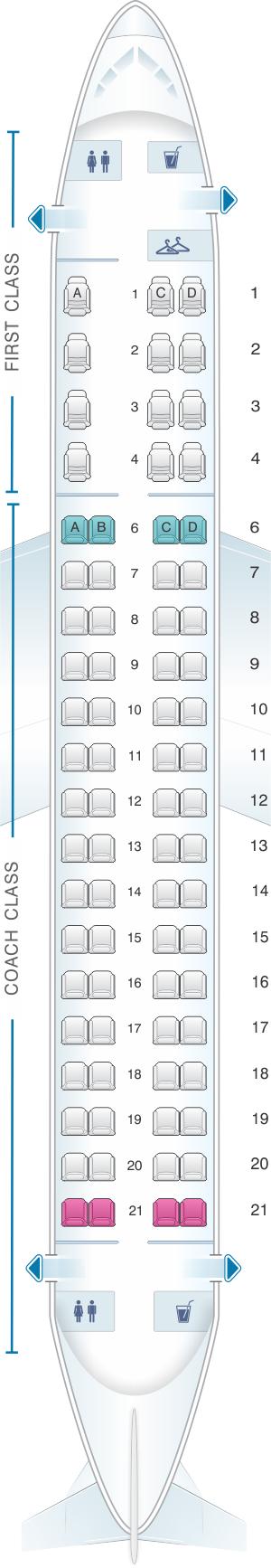 Seat Map Embraer 175 Seatmaestro Com