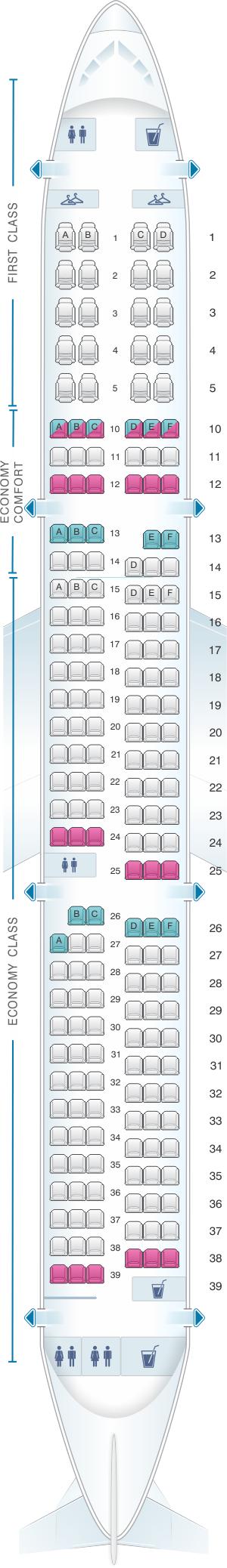 Seat Map Airbus A321 | SeatMaestro.com