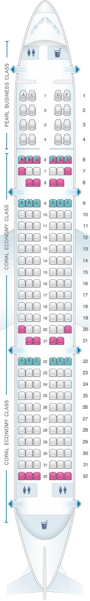 Seat Map Etihad Airways Airbus A321 200 | SeatMaestro