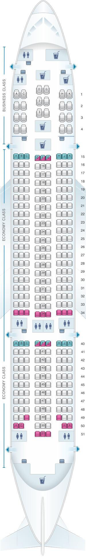 Seat Map Air Europa Boeing B787 8 Seatmaestro