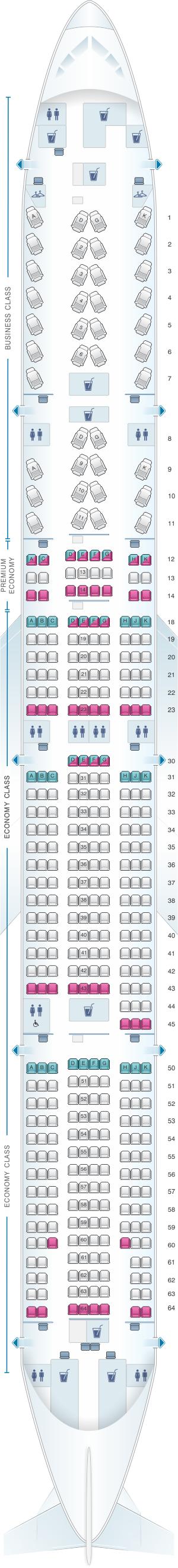 Air Canada 777 Seat Map Seat Map Air Canada Boeing B777 300ER (77W) International Layout 1