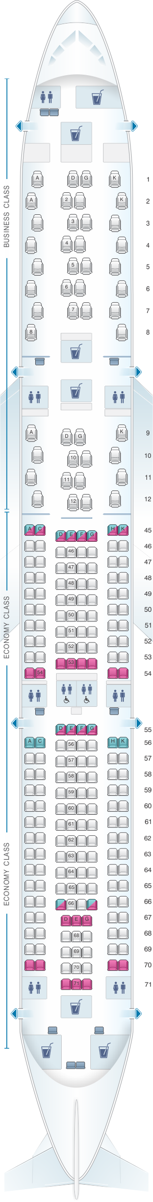 seat map south african airways airbus a330 300 seatmaestro