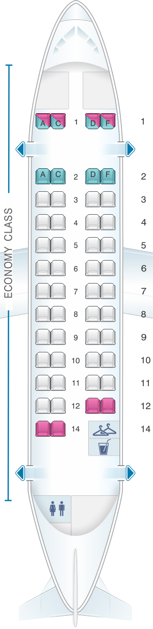 Seat map for Air France ATR 42 500 V1
