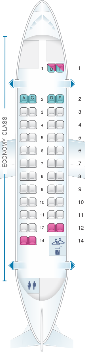 Seat map for Air France ATR 42 500 V2