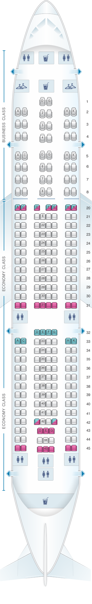 airbus a330 200 seat map Seat Map Mea Airbus A330 200 Seatmaestro airbus a330 200 seat map
