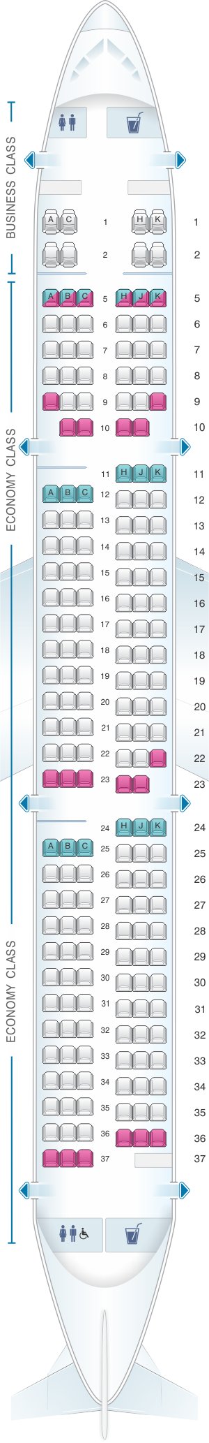 Seat Map Ana All Nippon Airways Airbus A321 Domestic