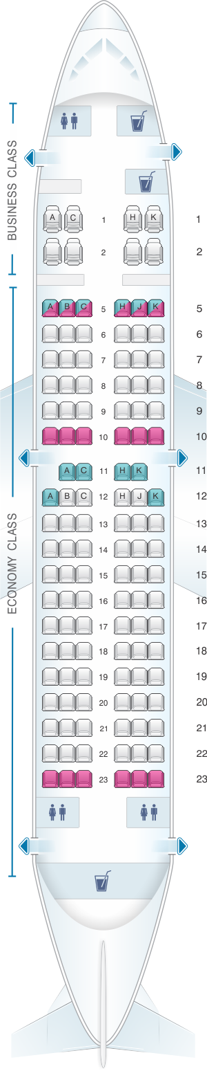 Seat map for ANA - All Nippon Airways Boeing B737 700 domestic