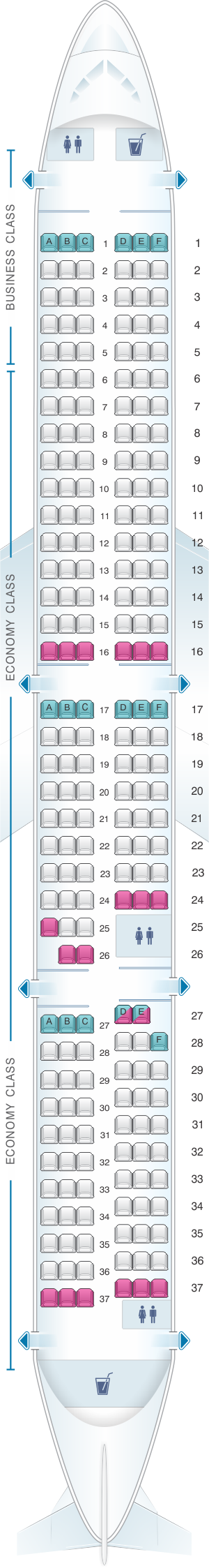 Seat Map Air New Zealand Airbus A321 Neo | SeatMaestro