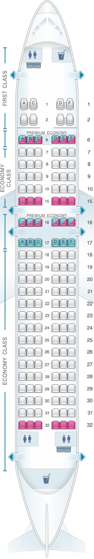 Seat Map Alaska Airlines Horizon Air