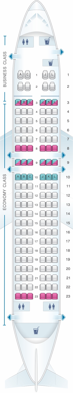 Seat map for SpiceJet Boeing B737 700 config.2