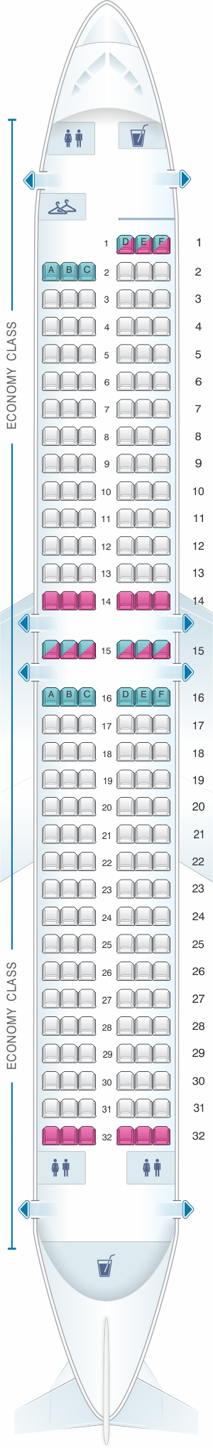 Seat map for SpiceJet Boeing B737 MAX8